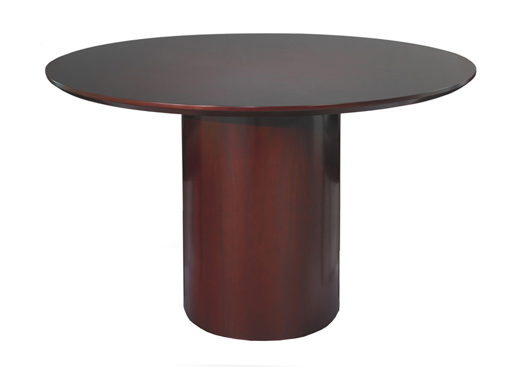 Wood Office Furniture Tables from Mayline - Shown in Mahogany Wood