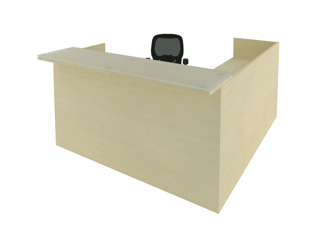 L shaped reception desk - Amber Reception Furniture