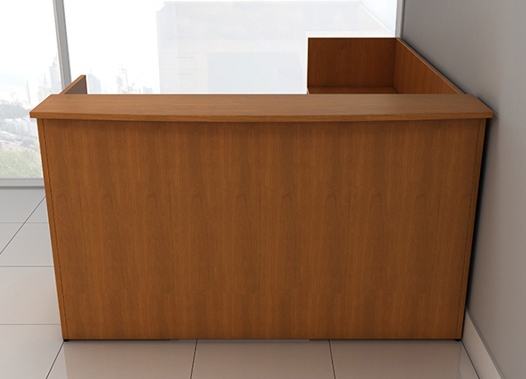 L shaped reception desk - IOF Custom Reception Furniture