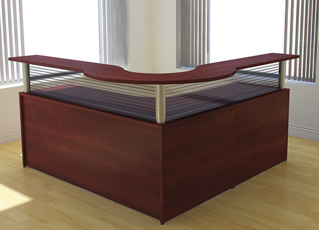 Cherry Office Furniture Custom Reception Desk Furniture