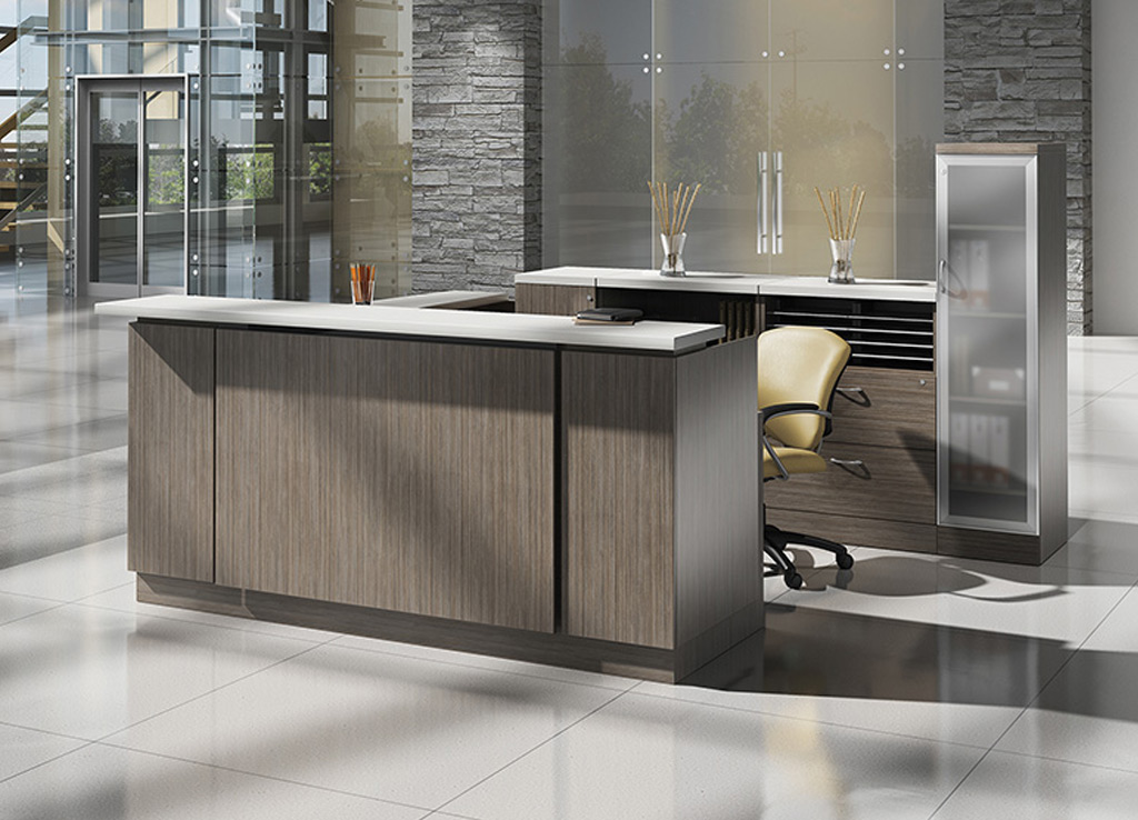 Modern Reception Desks - Zira Reception Furniture