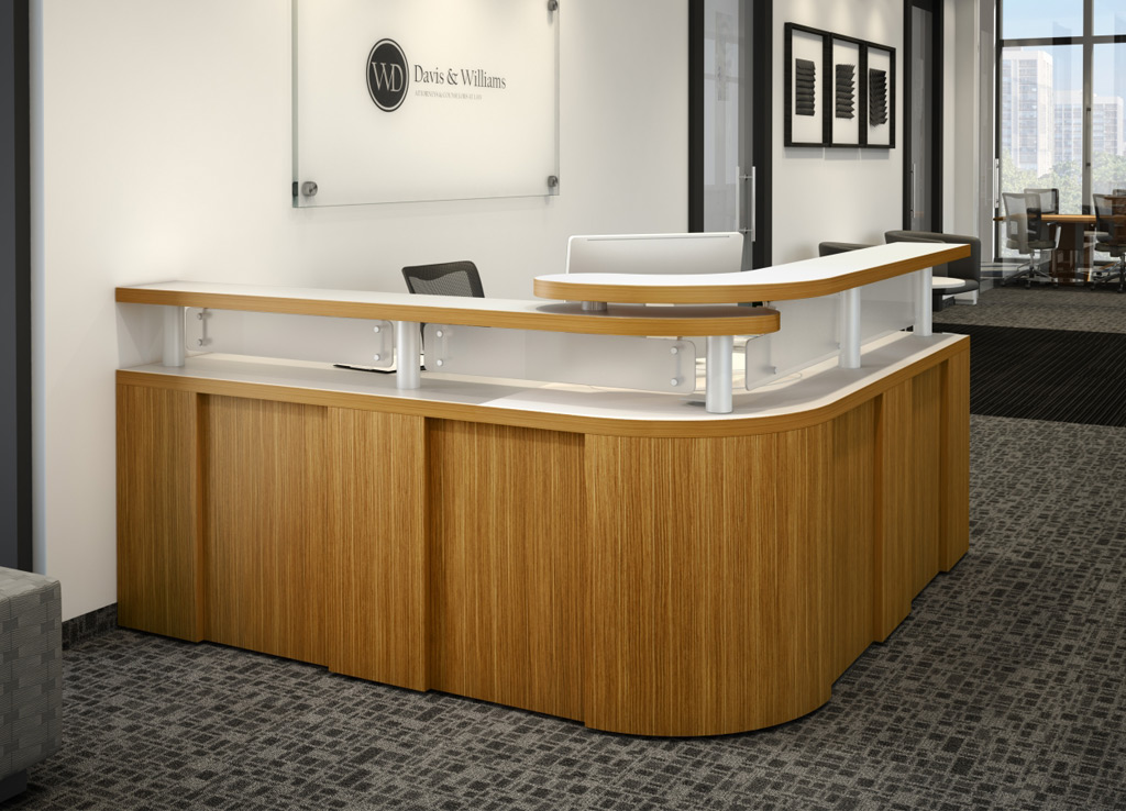 L Shaped Reception Desk Manhattan Furniture