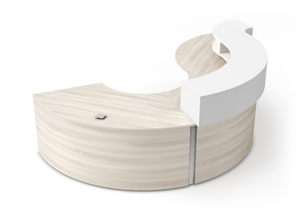 Curved reception desk - Spheric Reception Furniture