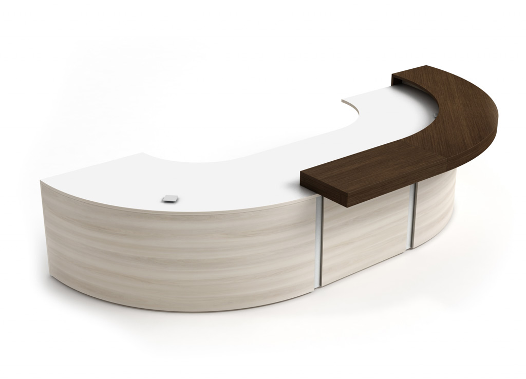 Curved Reception Desk Spheric Furniture