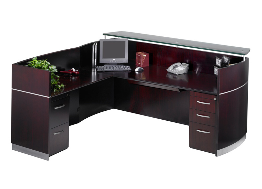 Wood Office Furniture   Napoli Reception Furniture