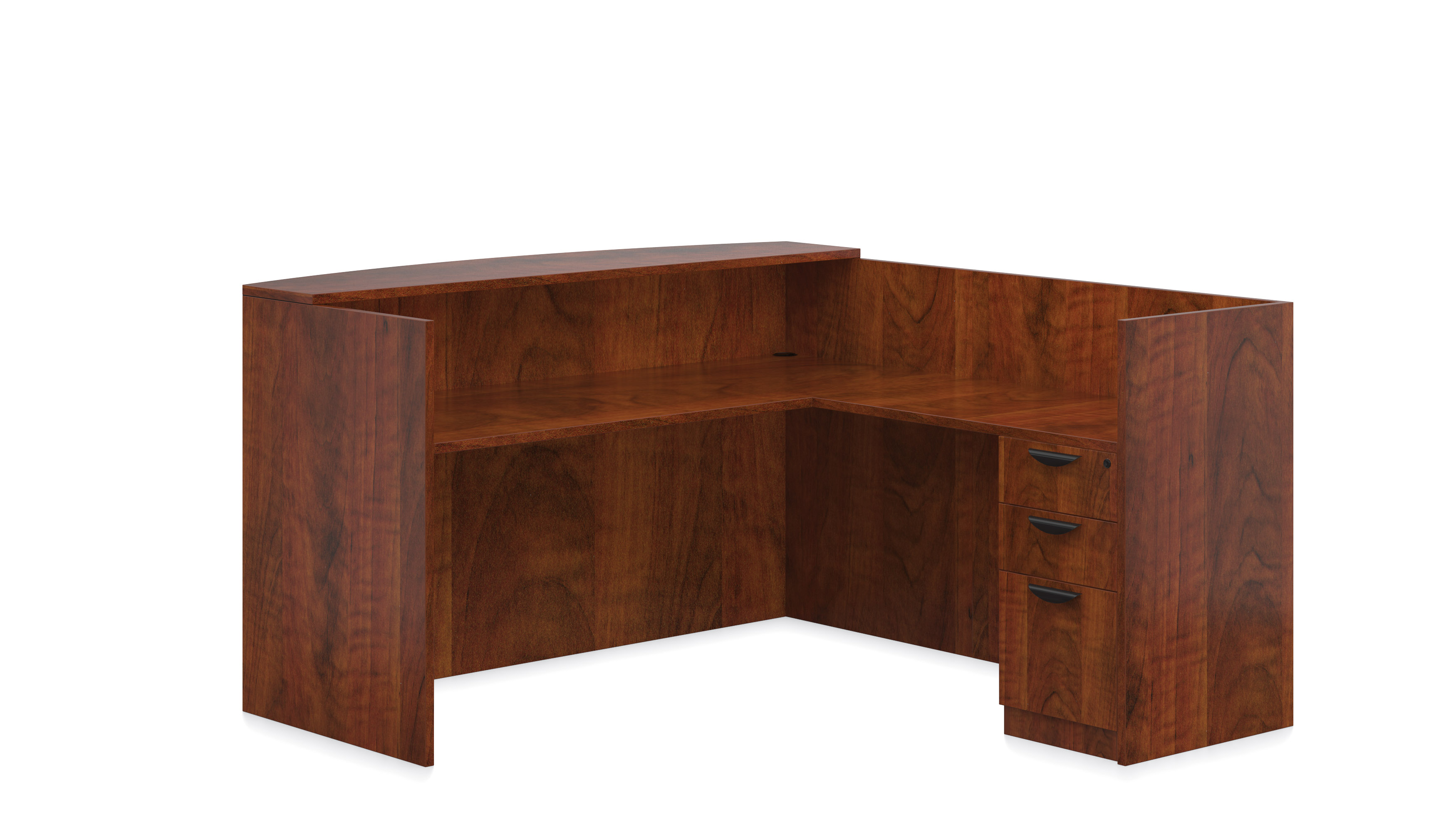 Affordable Lobby Furniture From OTG   Shown In American Dark Cherry  Woodgrain