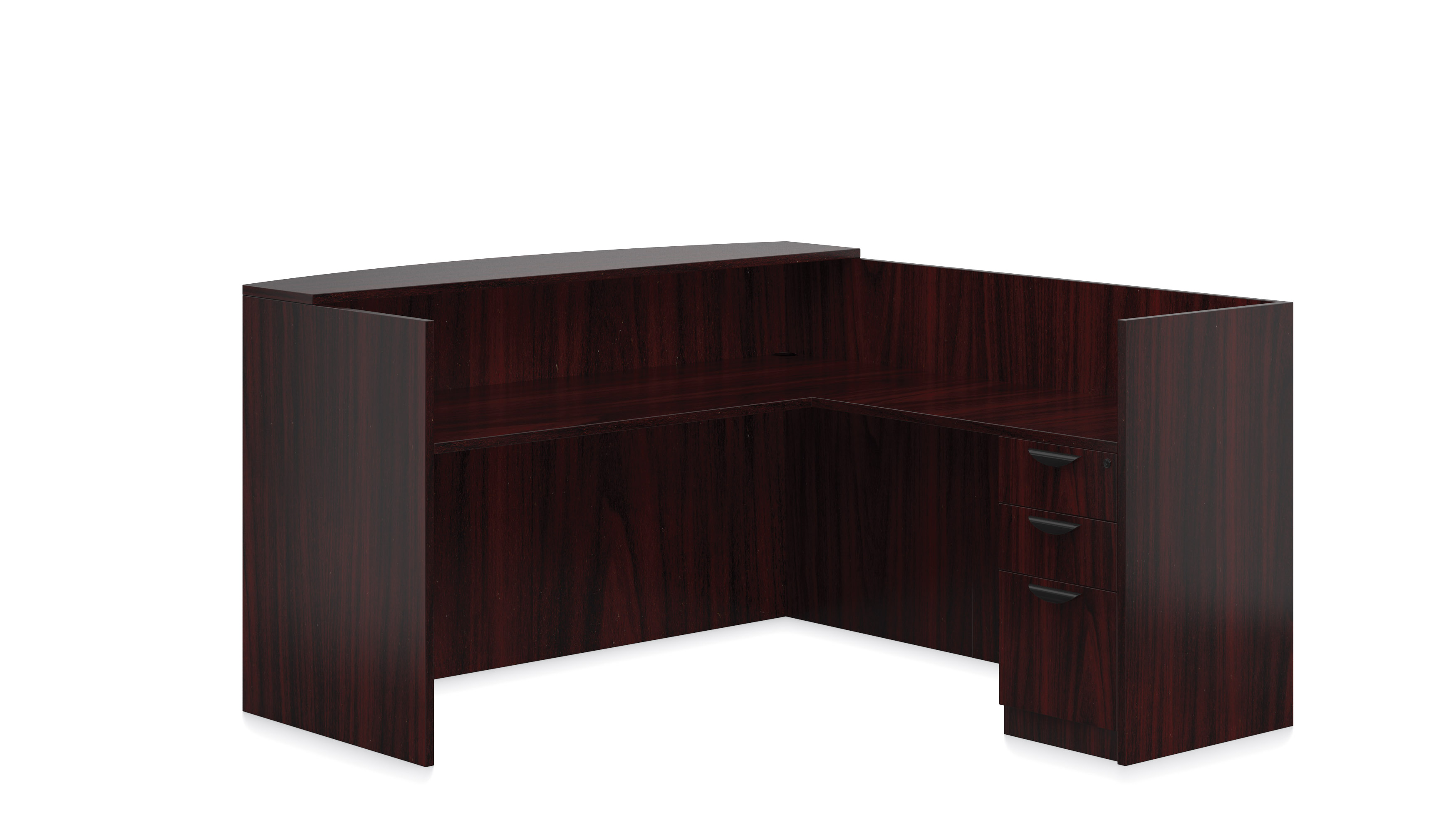 Superior Affordable Lobby Furniture From OTG   Shown American Mahogany Woodgrain