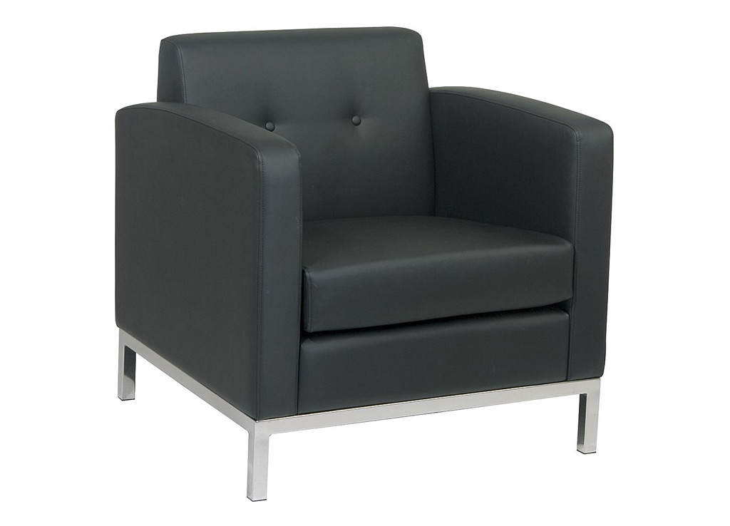 Attirant Office Reception Chairs From Office Star   Shown In Black Leather (faux)