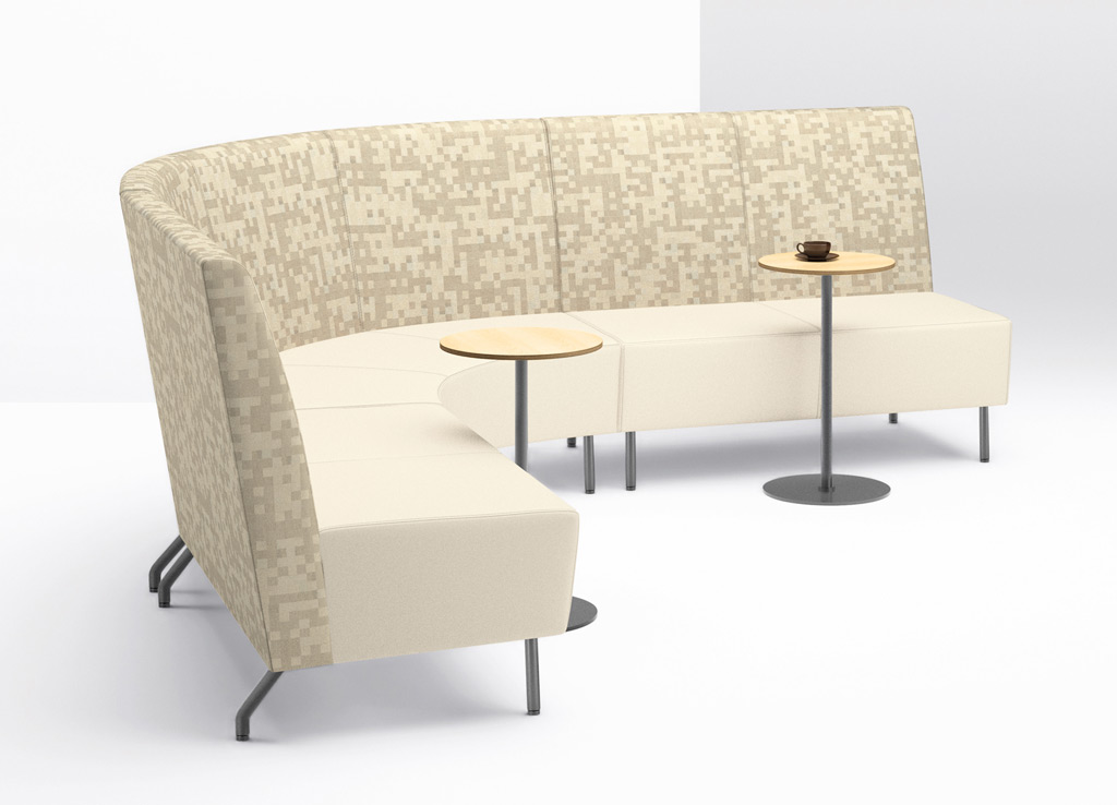 Office reception chairs from Arcadia - The Intima Collection features low-back, medium-back, and high-back options for varying levels of comfort and privacy.