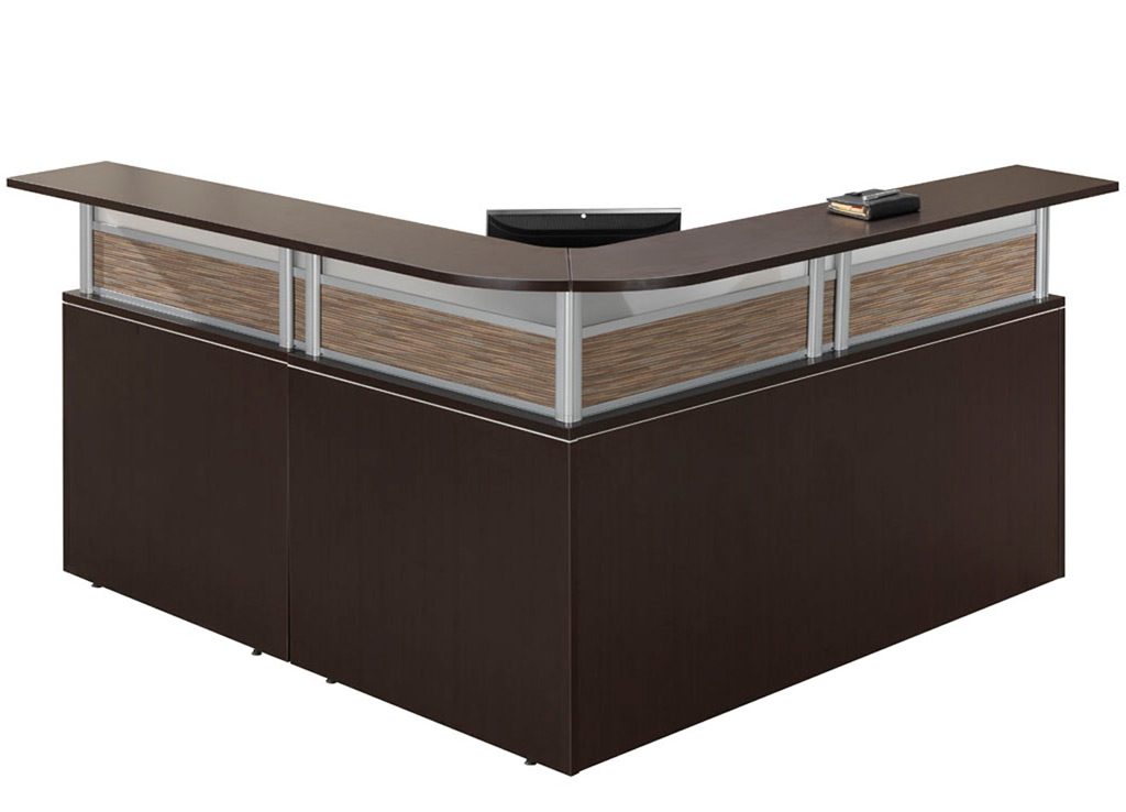 Small reception desk affordable lobby furniture for Affordable furniture source