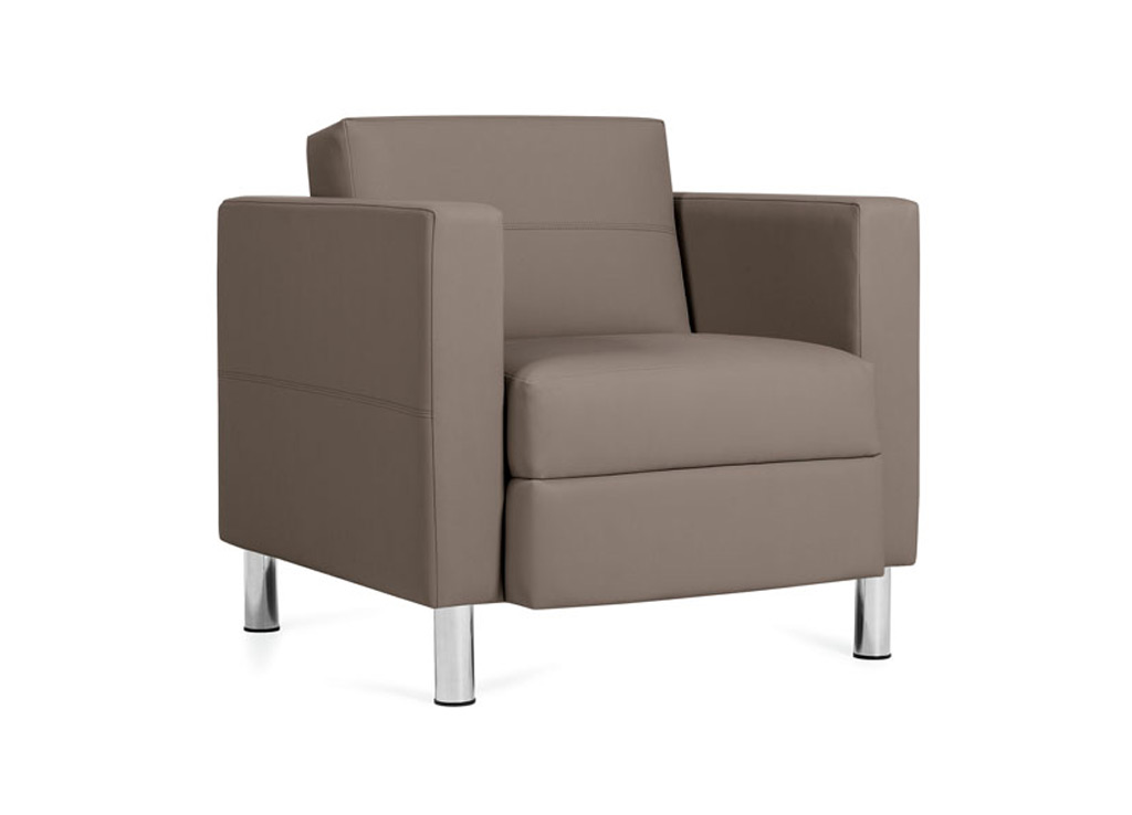 Office reception chairs from Global Total Office - Side Angle View