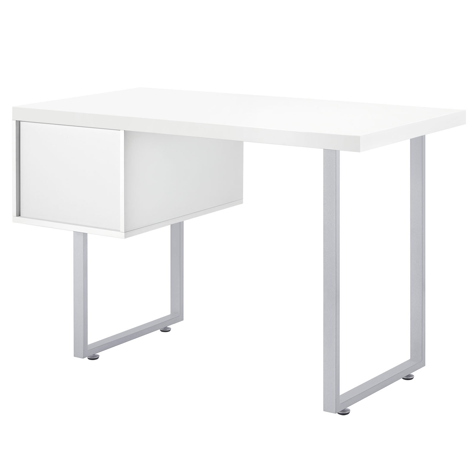 space saving desk from modway back view shown in white