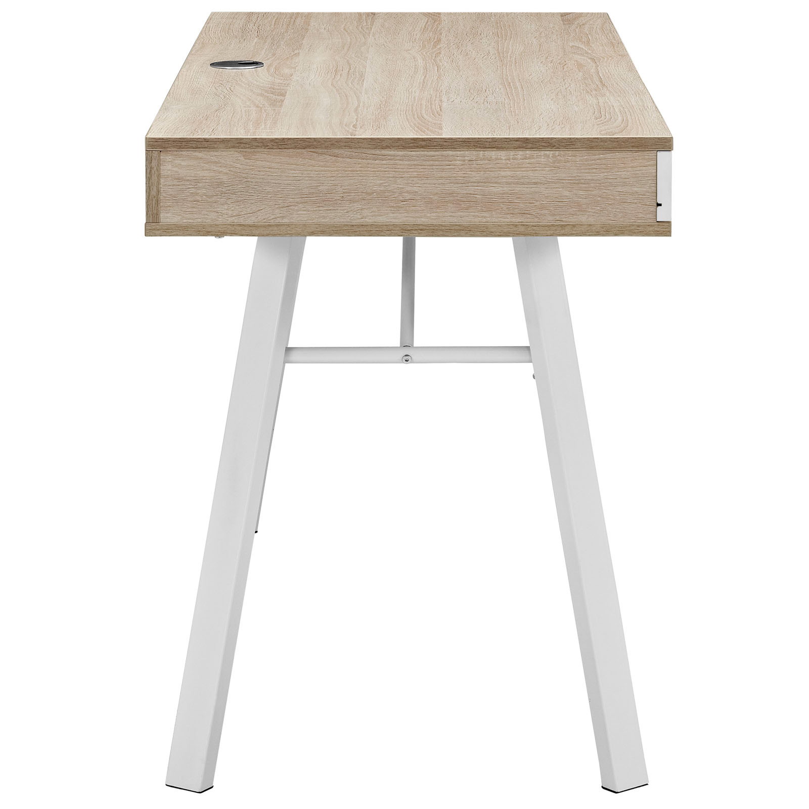 Space Saving Desk From Modway   Side View   Shown In Oak (Beige)