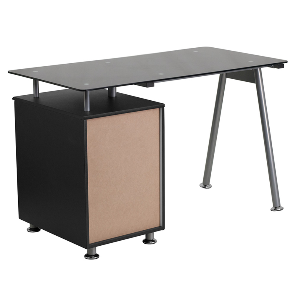 Small Computer Desks From Flash Furniture   Back View
