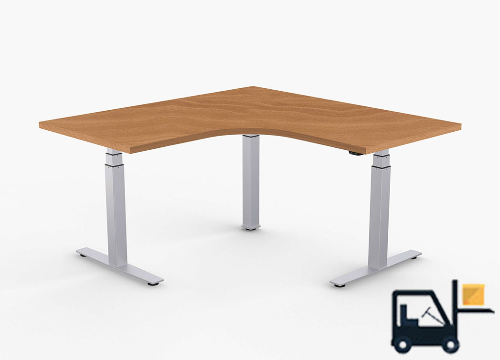 l shaped adjustable stand up desk valulift sit stand desks