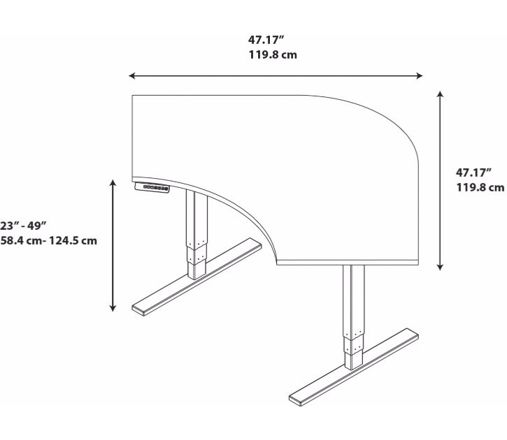 Adjustable Height Desks from BBF - 3D schematic