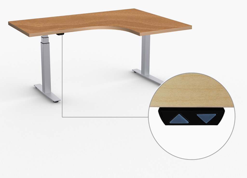 Adjustable Height Desks by Special T - Standard Up/Down switch is included.