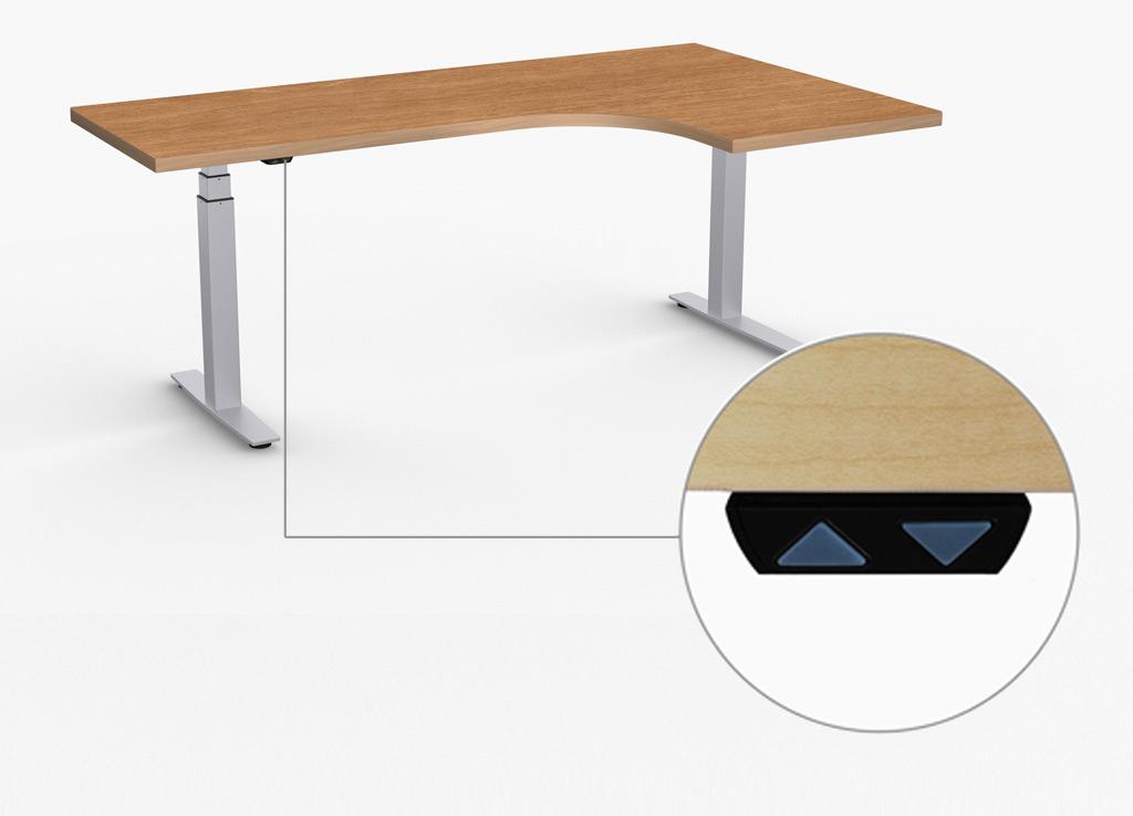 L Shaped Ergonomic Computer Desk Adjustable Height Desks