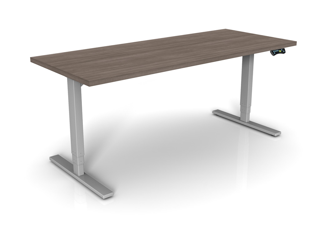 Sit And Stand Desk Bases From Symmetry Office The Apollo Iii Has A Wide Range