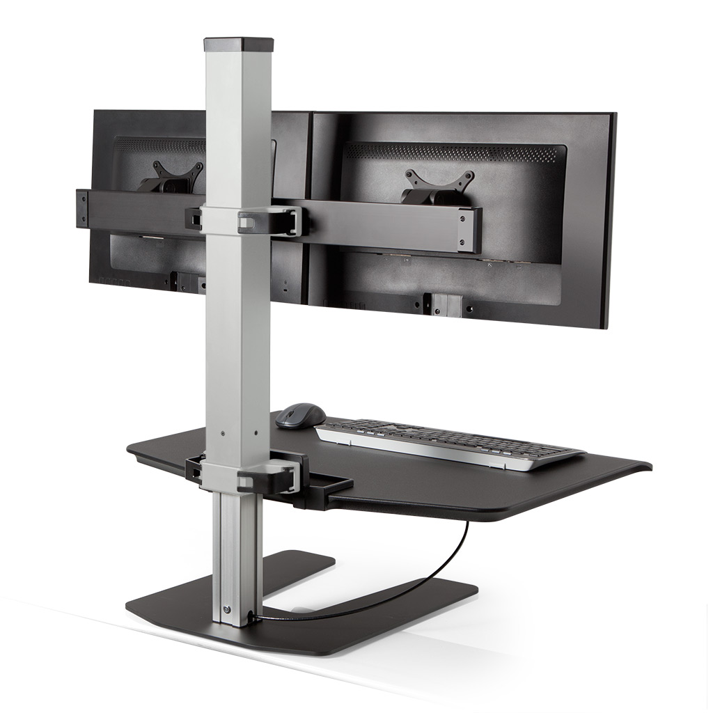 Stand Sit Desk Conversion Kit from LCD Arms - Back View