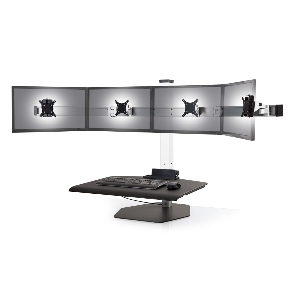Stand Sit Desk Conversion Kit from LCD Arms - Shown in White