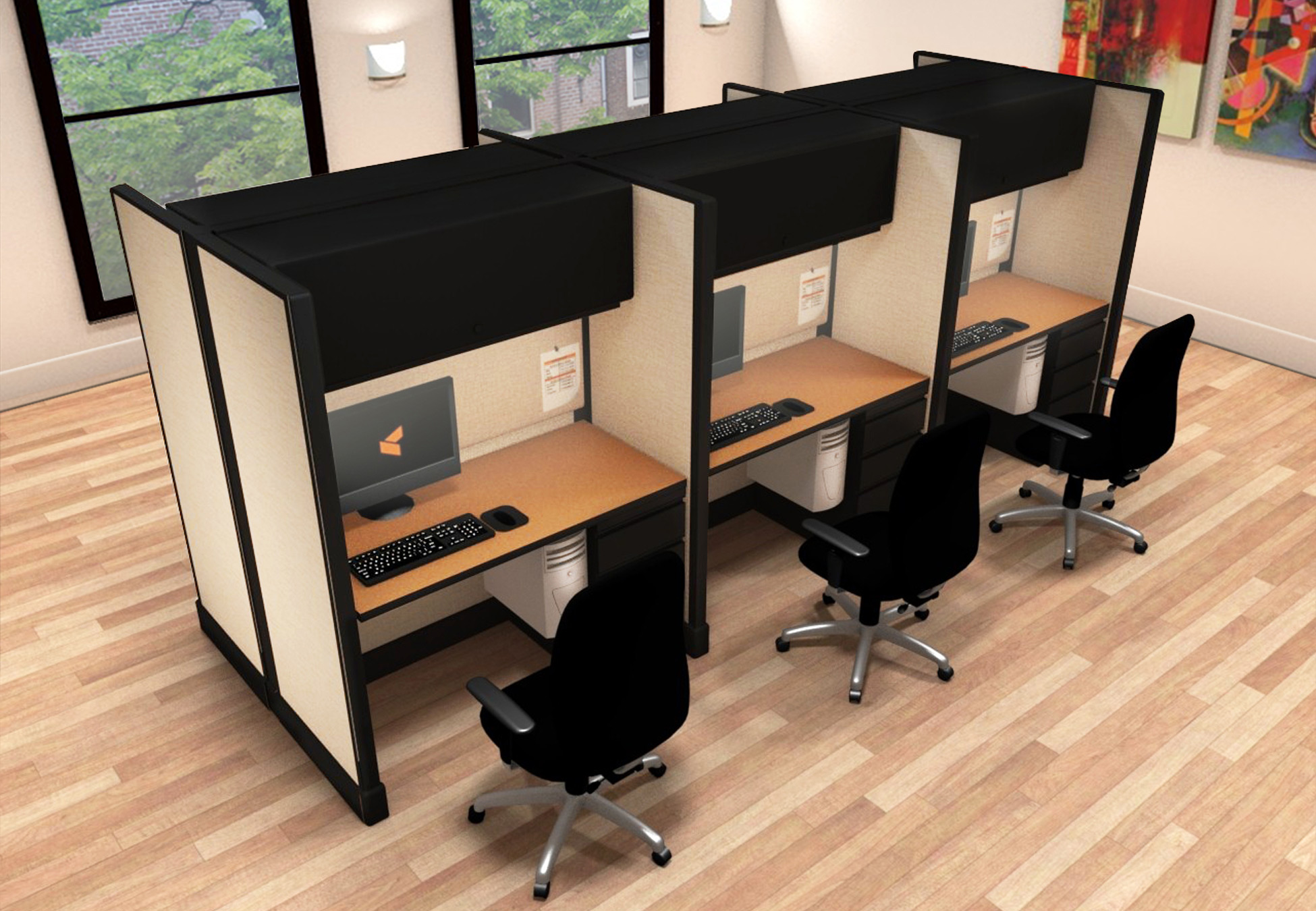 2x4 Small Business Furniture - 6 Pack Cluster