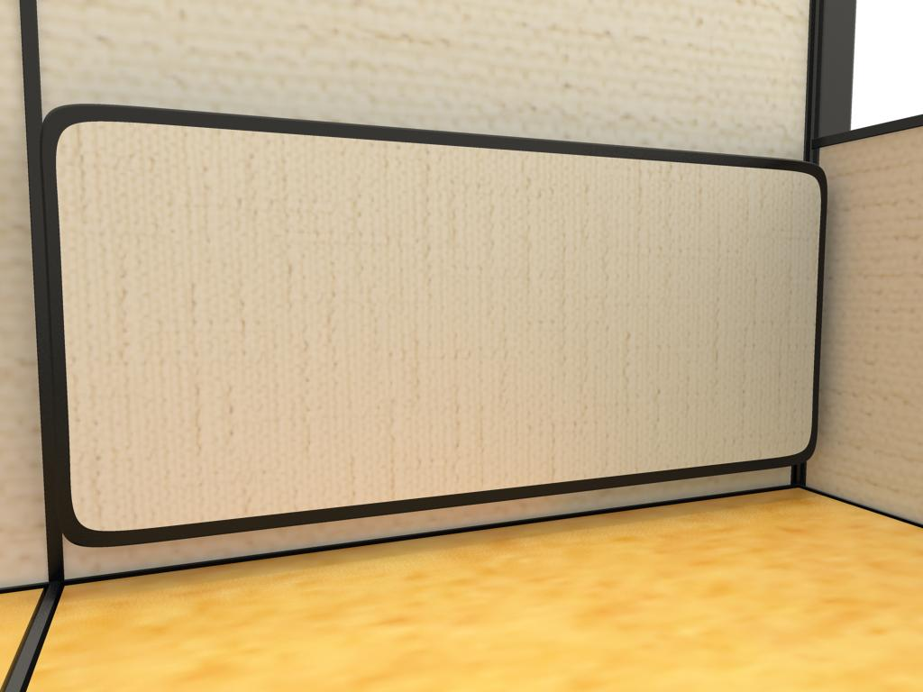 Cubicles 6x6, 5x6 and 5x5 - Tackboards are a perfect complement to hard-non-tackable panels. Tackboards are convenient for tacking reminders and frequently referenced documents.