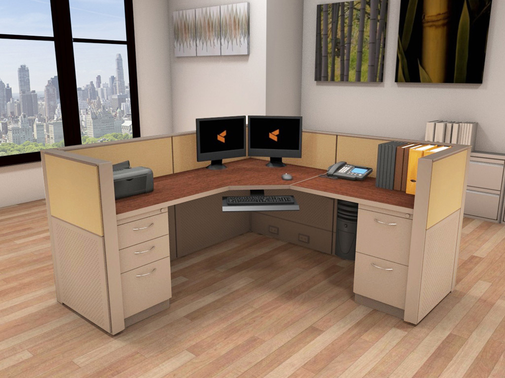Office Systems Furniture 6x6 Cubicle Workstations