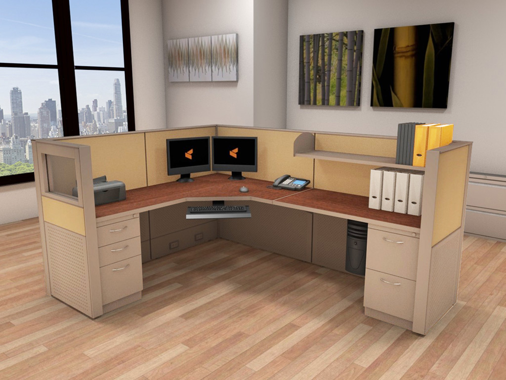 Workstation Office Furniture - Matrix Cubicle Systems