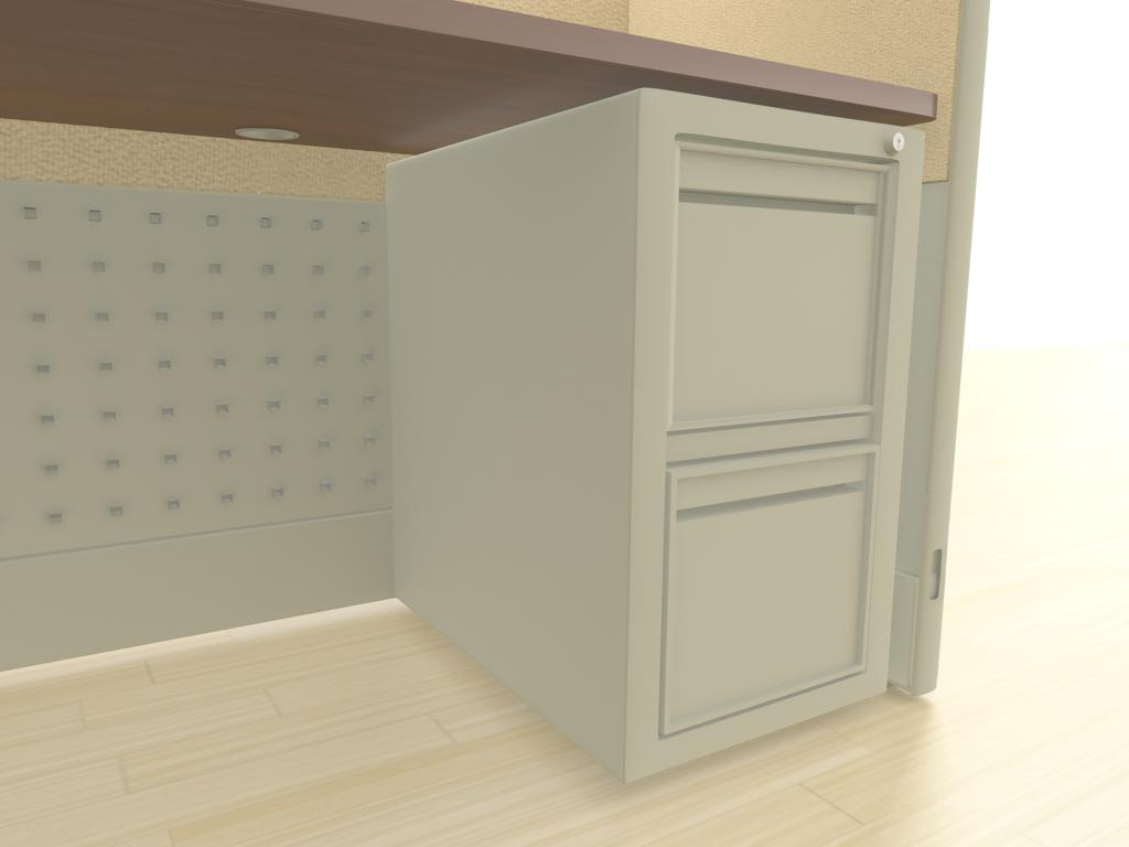 "5x5 Cubicle Workstations from AIS - a ""file-file"" pedestal is an under-surface storage cabinet with two deep drawers designed for hanging files. Lock and key secures all drawers from unwanted visitors."
