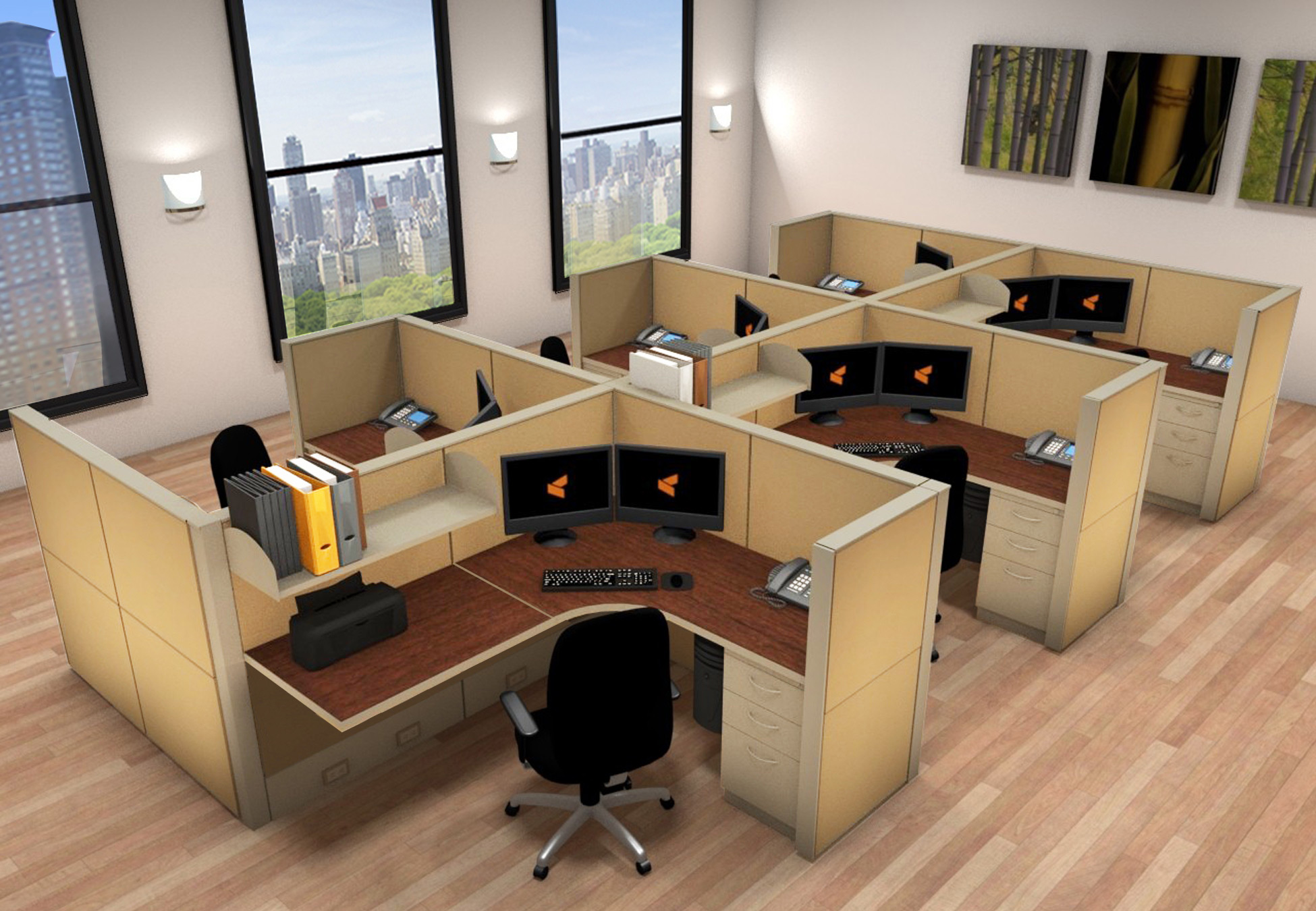 Office Work Stations 5x6 Cubicle Workstations