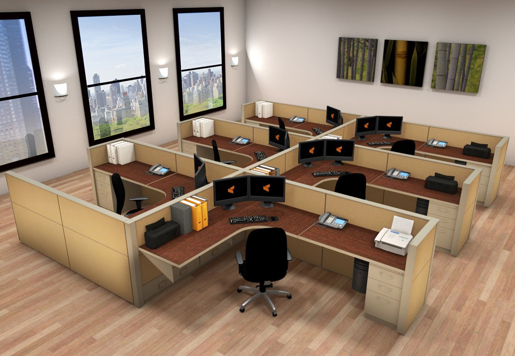 Booth Dining Room Sets Office Workstation Desk 6x8 Cubicle Workstations