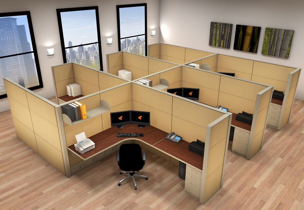 Systems Furniture 6x8 Cubicle Workstations Cubicle Systems