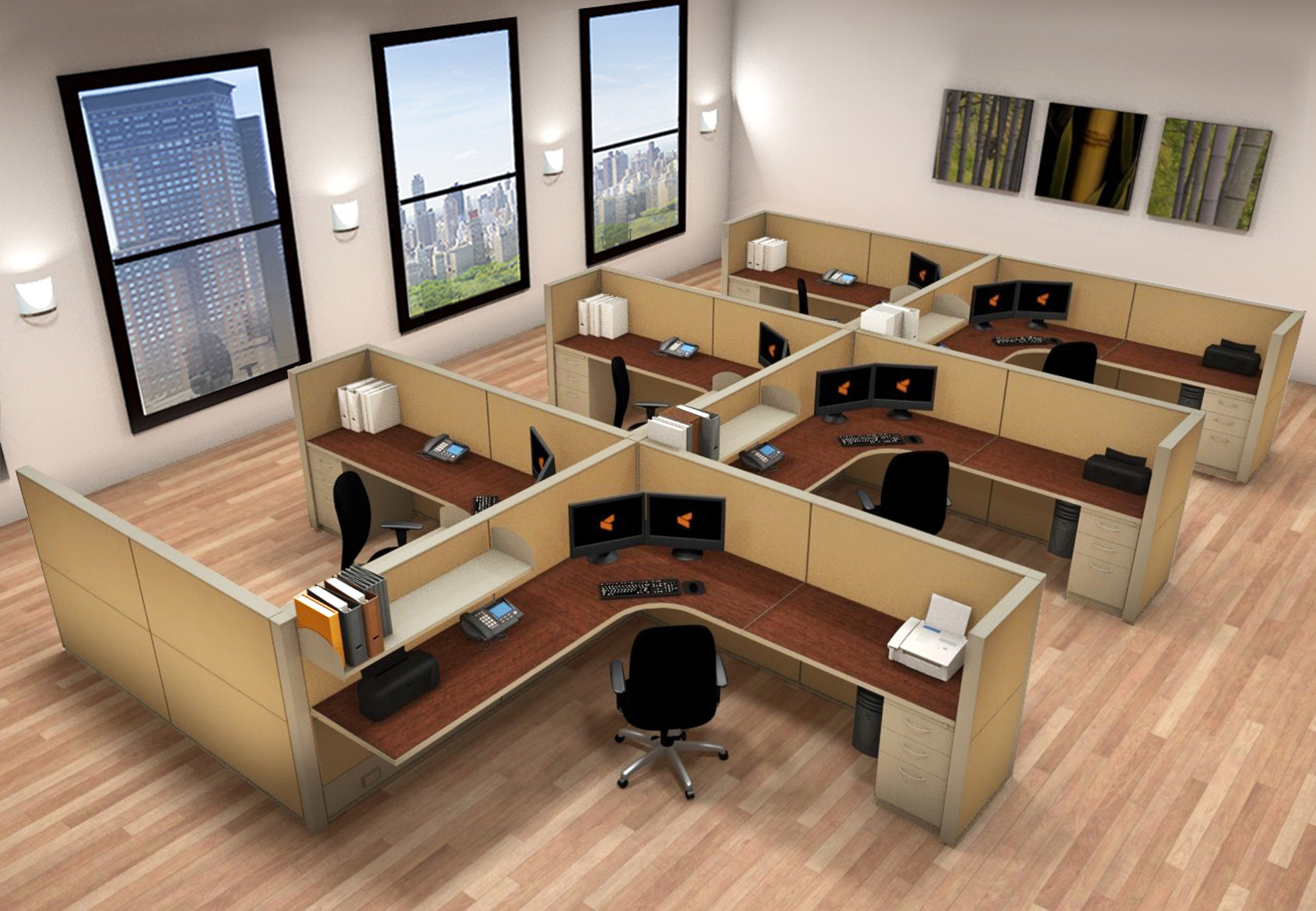 Office Furniture Systems 8x8 Cubicle Workstations