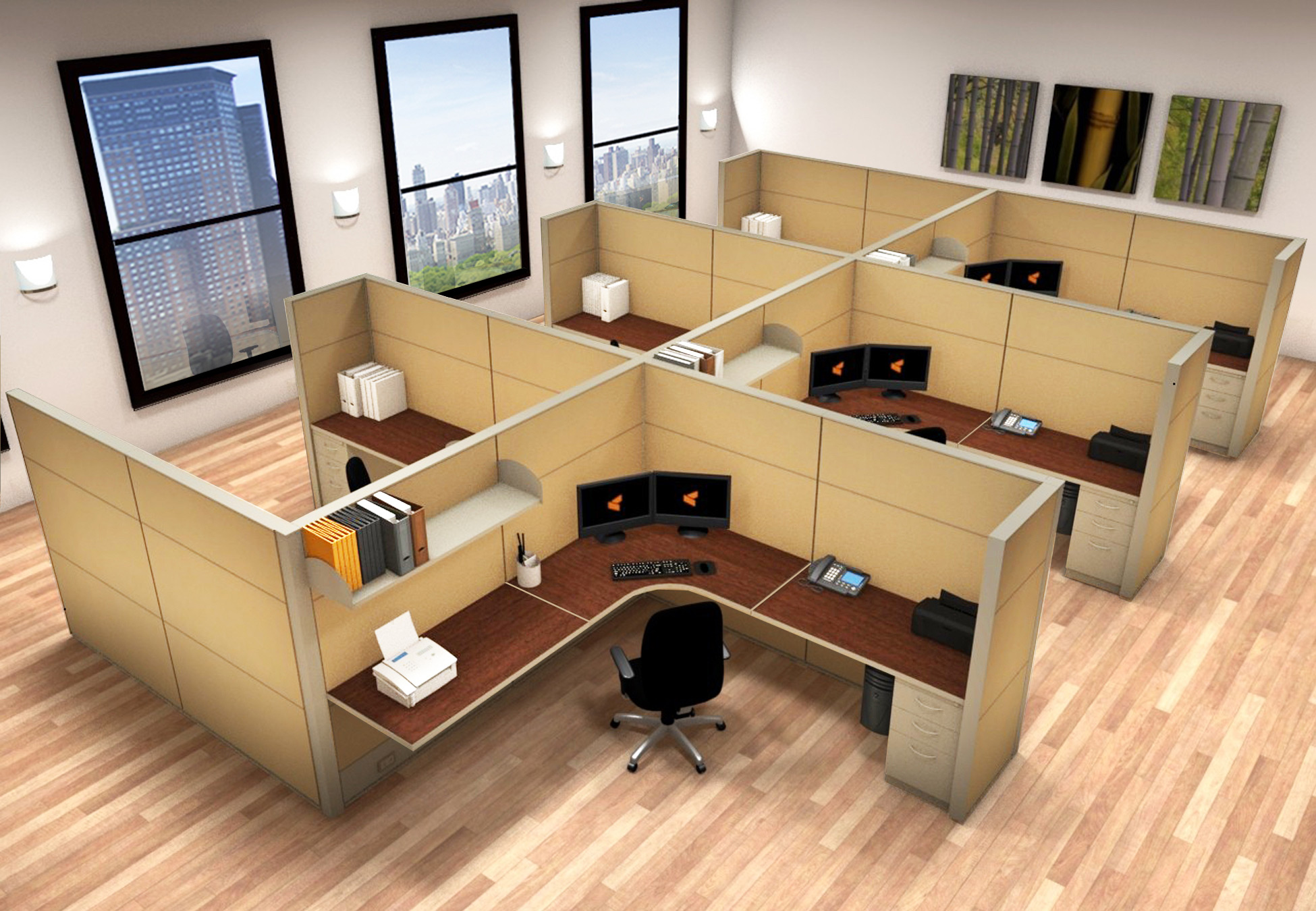 Office System Furniture 8x8 Cubicle Workstations