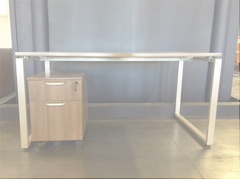 Small Desk With Storage 30x60 Used Office Desks