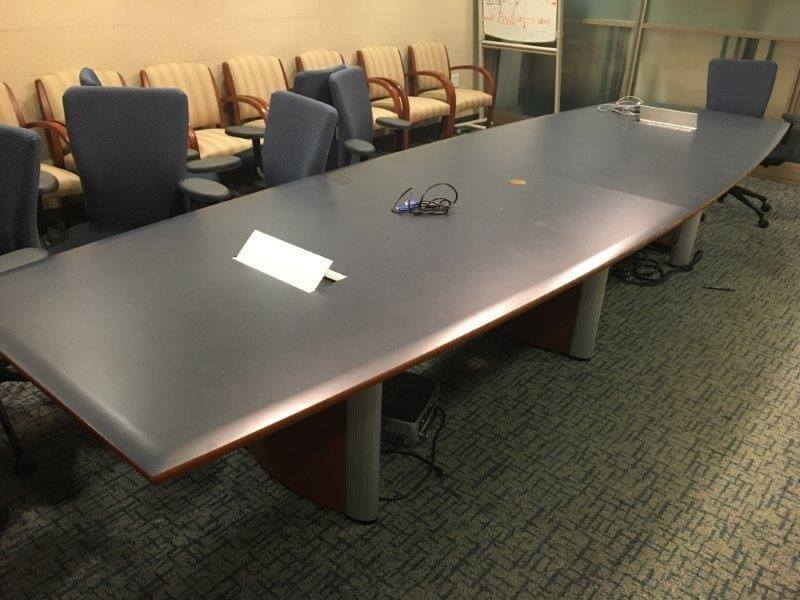 Used Conference Room Tables   Boat Shaped Table   Used Office Furniture For  Sale