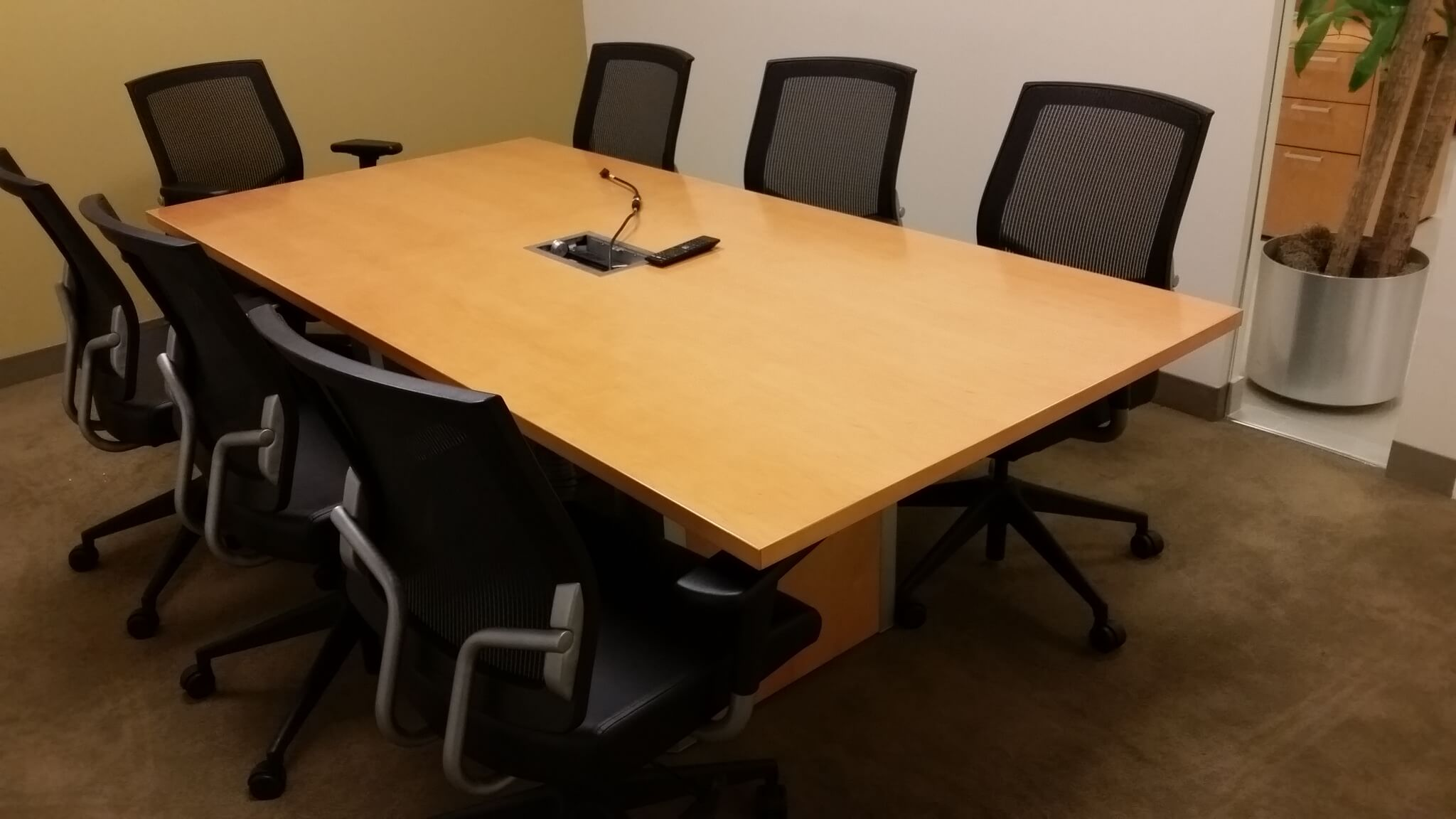 Used Teknion Conference Table 7x3 7