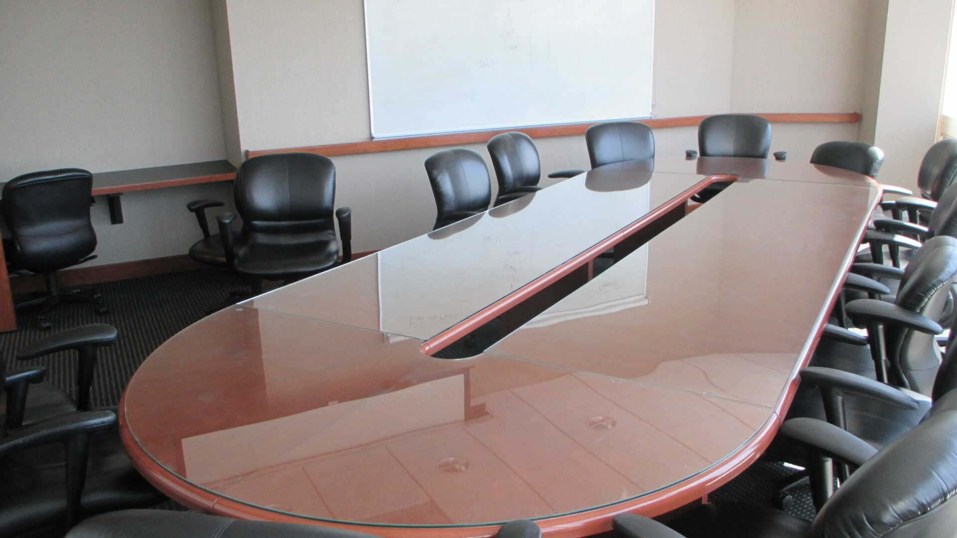 Used Glass Top Conference Table Used Office Furniture - Glass conference table for sale