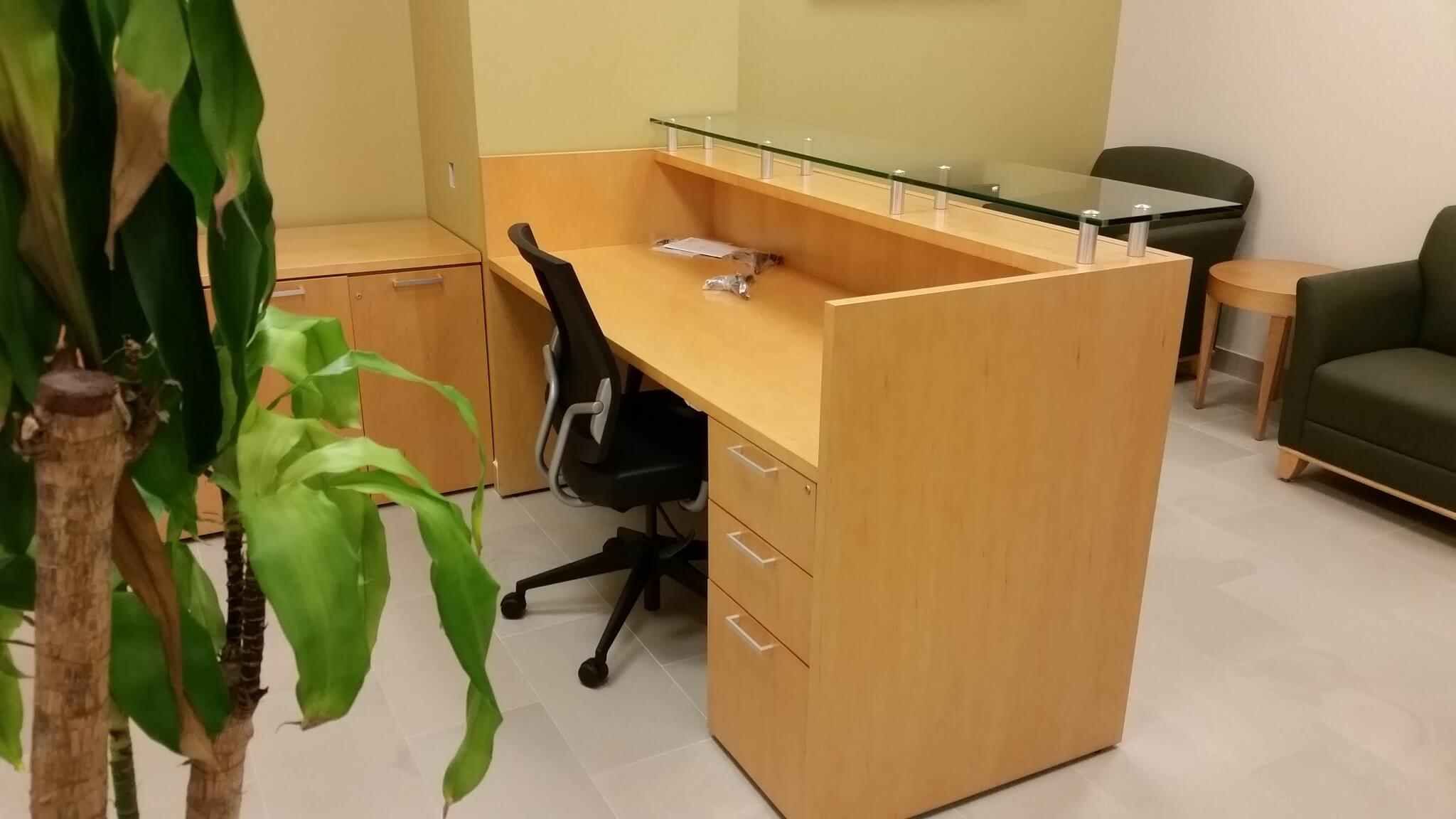Used Teknion Reception Desk Used Office Furniture