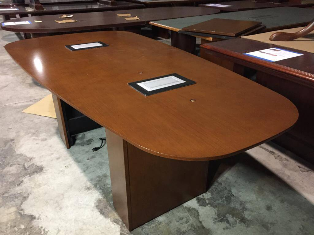 Used Conference Room Tables - Walnut Table - Used Office Furniture For Sale