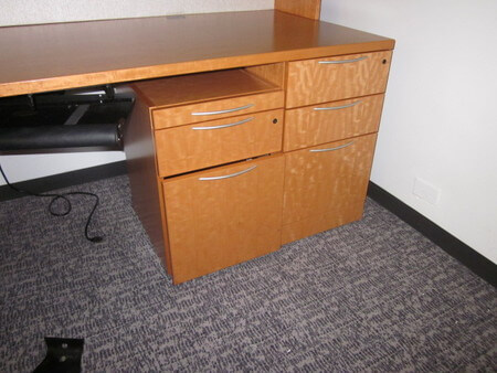 Used Office Desks from Knoll - including 2-drawer filing pedestal and 3-drawer filing pedestal