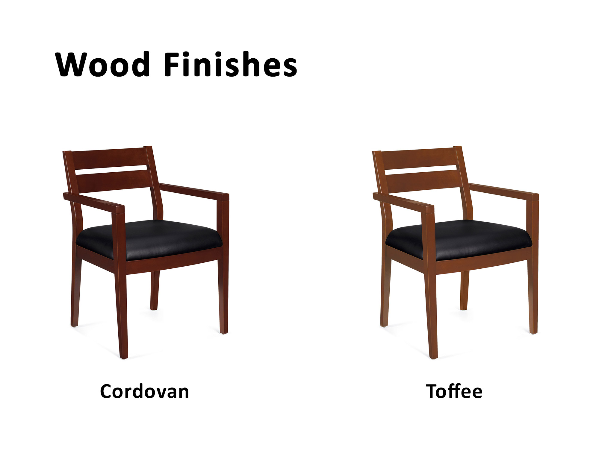 Office Visitor Chairs From OTG   The Cherry Wood Frame Comes In Two Warm  Wood Tones