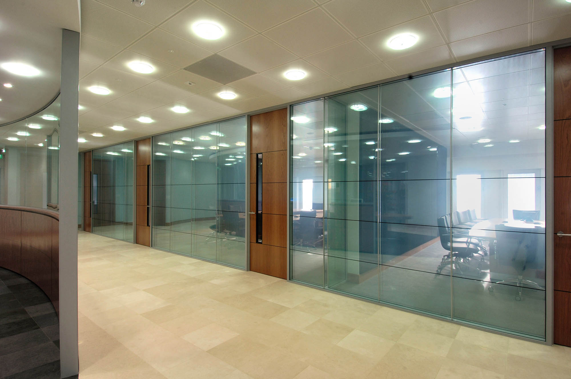 Office glass walls glass wall systems glass partition for Office wall interior