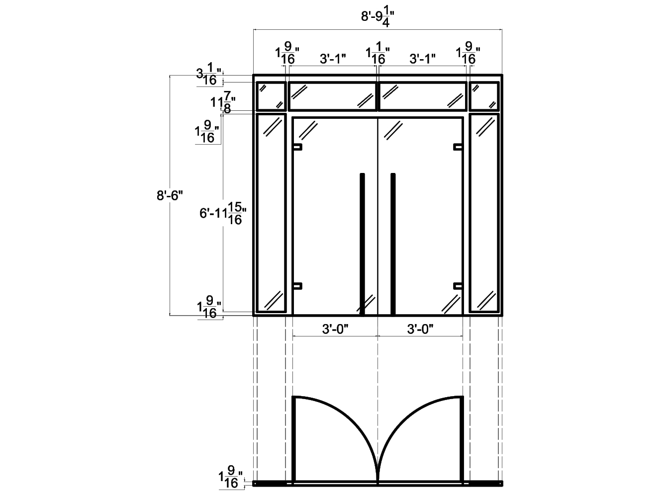 Glass Room Dividers from NXTWALL - 2D schematic