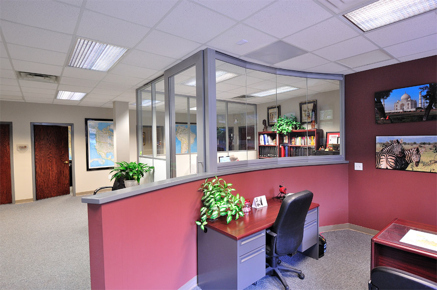 Curved glass wall glass wall panels glass partition walls for Curved glass wall