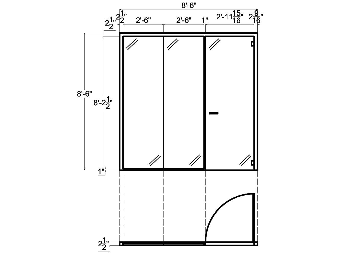 Glass Wall Systems from Concord - 2D schematic