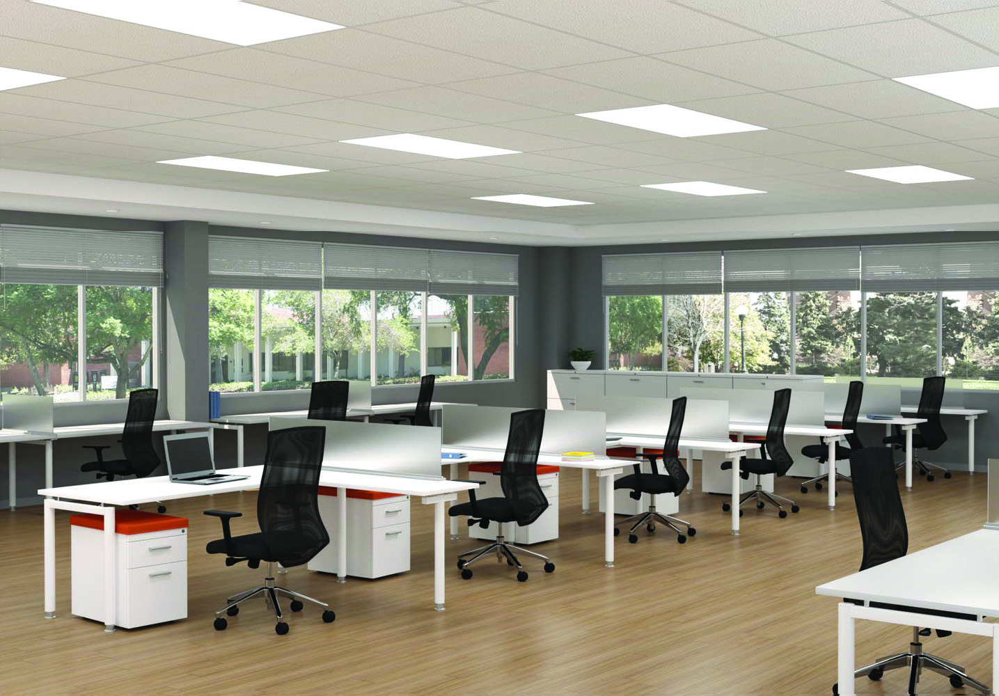 Chair With Desk   Team Spaces Office Furniture Sets