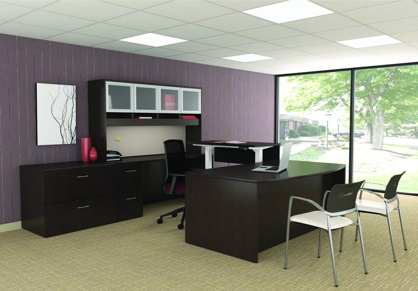 Executive Office Furniture: Office Desk And Chair