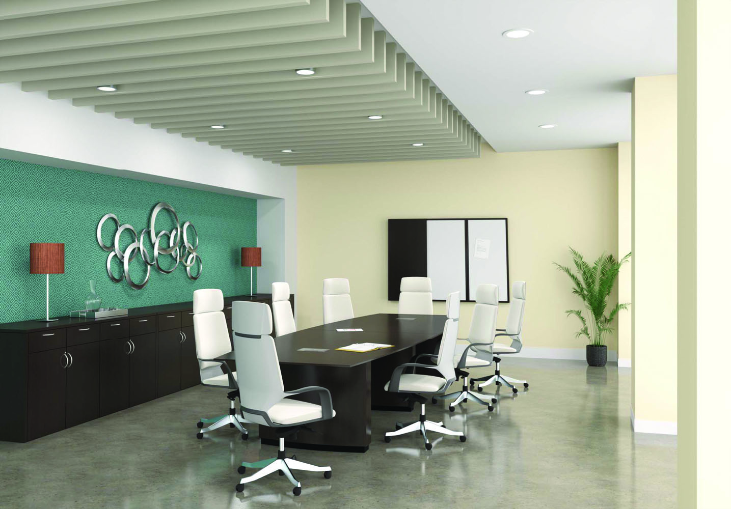 Conference Table And Chairs - Collaboration Spaces Office Furniture Sets